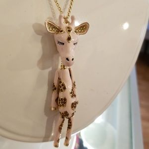 One of kind Betsey Johnson giraffe necklace